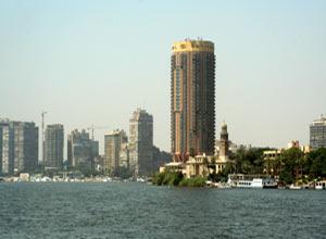 Nil przepływający przez Kair