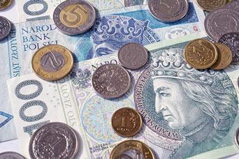 rozsypane banknoty i monety