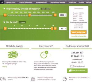 Jak w Vivus wziąć pożyczkę do 2500 zł za darmo przez Internet
