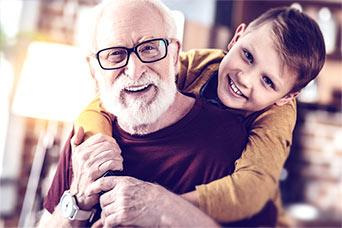 dziadek z wnukiem