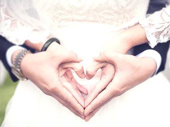 Ręce pary młodej