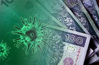 wirus na pieniądzach w gotówce